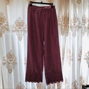 Purple Palazzo Lace Trim Pants 🔮